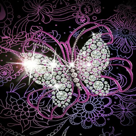 Sequins 3d Butterfly Black White Size M L purple wallpaper best purple wallpapers in high quality purple