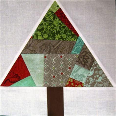 christmas tree paper pieced christmas tree in july paper pieced tree block favequilts
