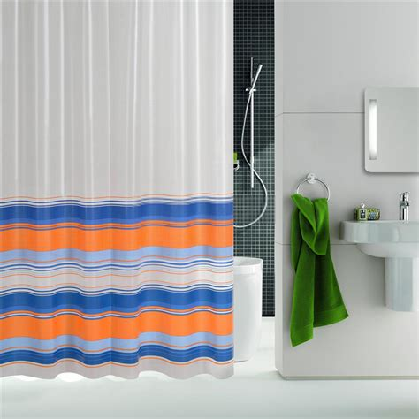 Colorful Shower Curtains Modern Bathroom Lines Colorful Striped Shower Curtains