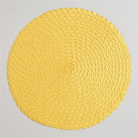 solar yellow braided placemats set of 4 world market