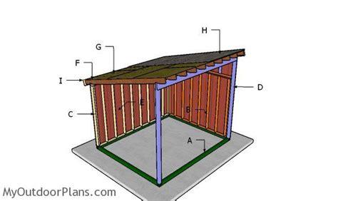 run  horse shelter roof plans myoutdoorplans