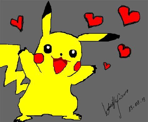 pikachu apaixonado desenho de ludfoca gartic