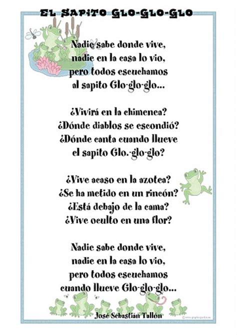 poesia para mi colegio de 5 estrofas poemas infantiles para imprimir