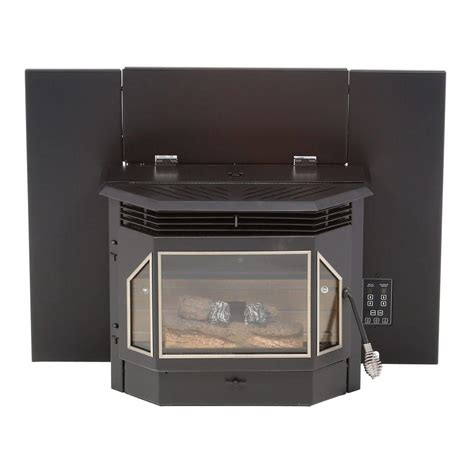 pellet stove fireplace insert reviews englander 28 5 in 2000 sq ft pellet burning fireplace