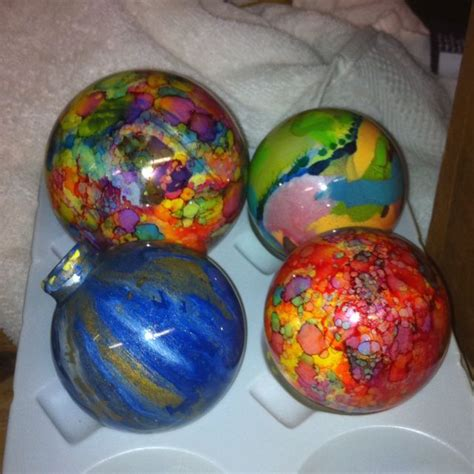 painting ornaments with acrylic paint ornaments with acrylic paint inside and ink outside crafts paint ink