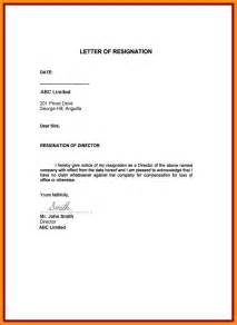 Sle Of Resignation Letter With Reason by 7 Sle Resignation Letters Personal Reasons Mystock Clerk