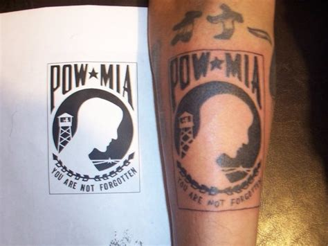 pow mia tattoos pow memorial picture at checkoutmyink