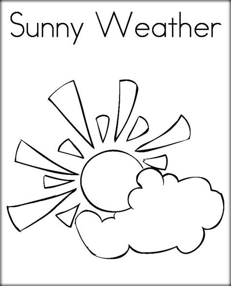 printable coloring pages weather free printable weather coloring pictures for preschool