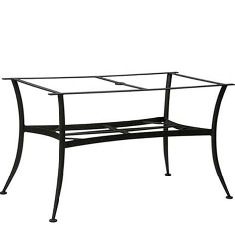 woodard 887400 dining tables and bases wrought iron large