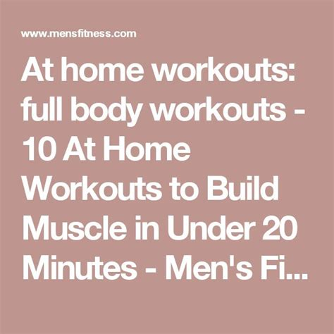 at home workouts workouts 10 at home workouts