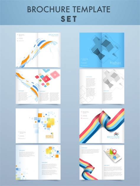 4 page brochure template free creative four pages brochure template set for business