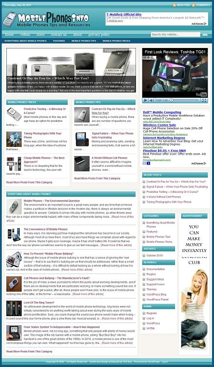 blogger templates for mobile phones mobile phones blog template