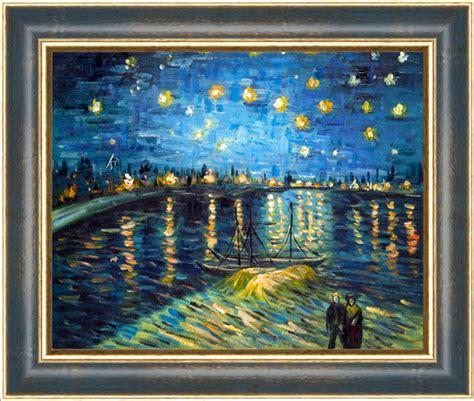 tipi di cornici per quadri falso di autore notte stellata cornice oro di