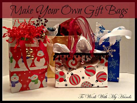 your own gifts do it yourself make your own gift bags money