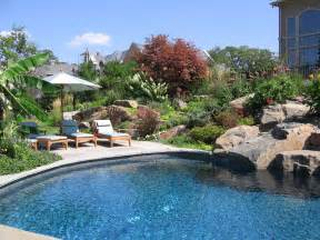 Backyard Decks How Tp Make Backyard Pool Landscaping Ideas Front Yard