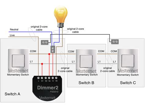 pdl intermediate switch wiring diagram two way light