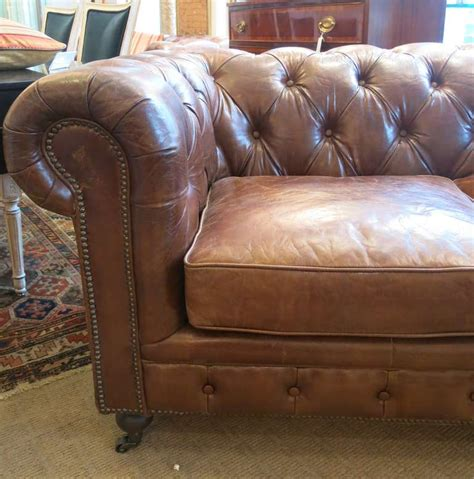 refurbish leather sofa pair of refurbished leather chesterfield sofa for