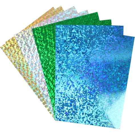 craft cardstock paper hobbycraft assorted foil cards a4 8 sheets pack cardstock