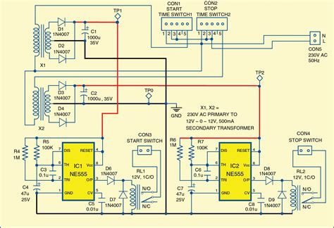 3 phase motor programmable controller circuit with