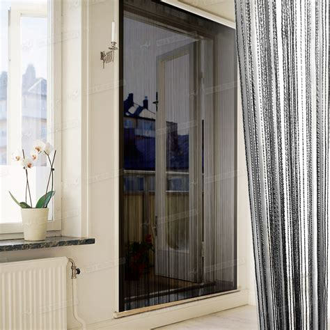Patio Door Net Curtains by String Curtains Patio Net Fringe For Door Fly Screen