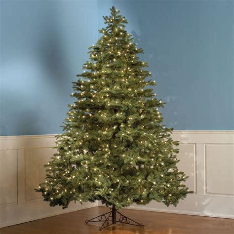 the tabletop prelit christmas tree hammacher schlemmer the lifelike prelit christmas tree 9 1 2 foot slender