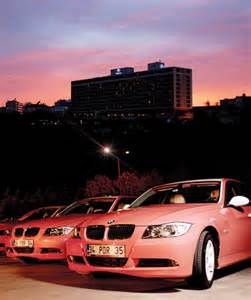 turkish delight bmw 3 series pink taxi