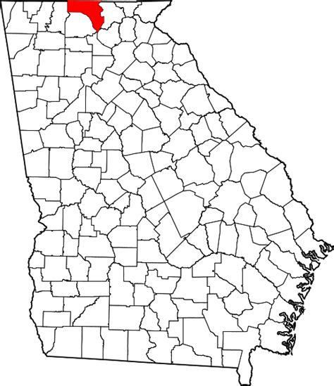 Fannin County Ga Records File Map Of Highlighting Fannin County Svg Wikimedia Commons
