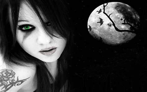 imagenes halloween emo chica emo en luna llena im 225 genes de miedo y fotos de terror