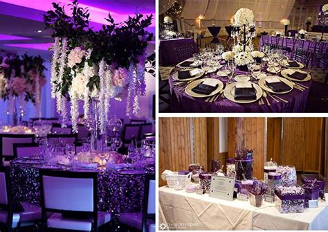 black and wedding centerpieces inspiration of cool black and purple wedding