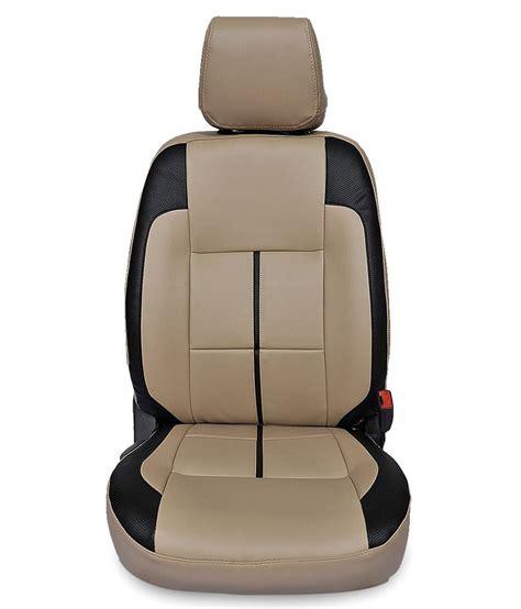 leatherette seat covers india gaadikart beige leatherette seat covers for tata indica