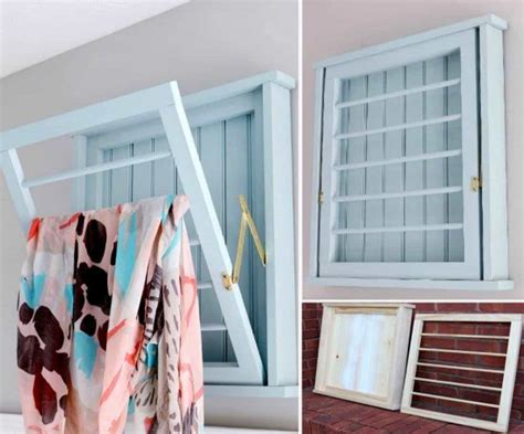 Wall Mounted Drying Rack Diy by Diy Wall Mounted Drying Rack Free Plans The Whoot