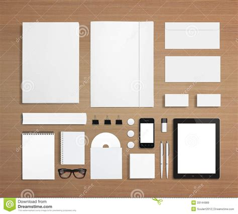 wooden templates blank stationery and corporate id template royalty free