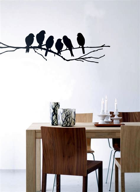 wall sticker bird in the dining room interior design