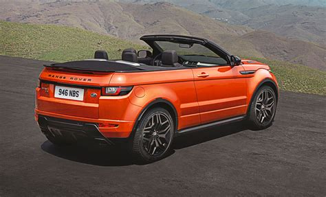 new car debrief range rover evoque convertible car