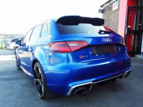 used audi rs3 quattro 5dr s tronic sepang blue with