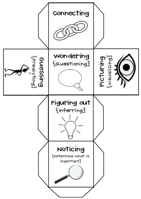 printable guided reading dice 60 best dice activities for guided reading images on