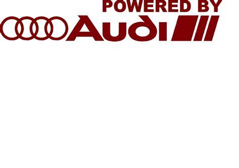 Audi Sport Logo Aufkleber by Powered By Audi Racing Sport S Line Window Decal Sticker