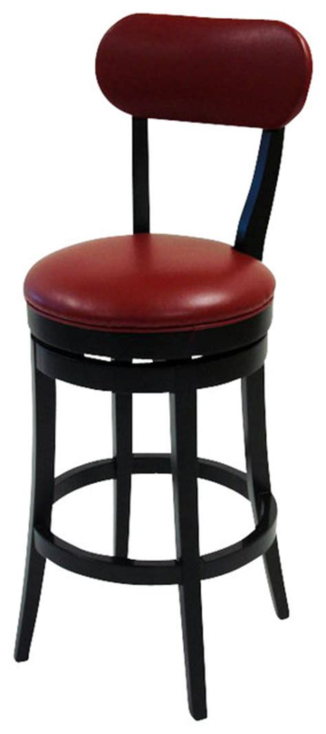 30 Inch Leather Bar Stools Armen Living 30 Inch Bicast Leather Swivel