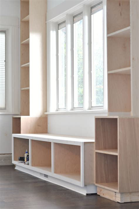 window bookshelves built in bookshelves diy