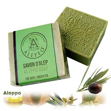 Sho Olive Herbal aleppo herbal soap olive green tea 100g