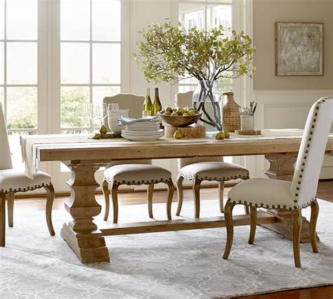 pottery barn dining room set banks reclaimed wood extending dining table pottery barn
