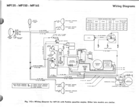 mf 135 150 165 perkins wiring diagram tractorshed