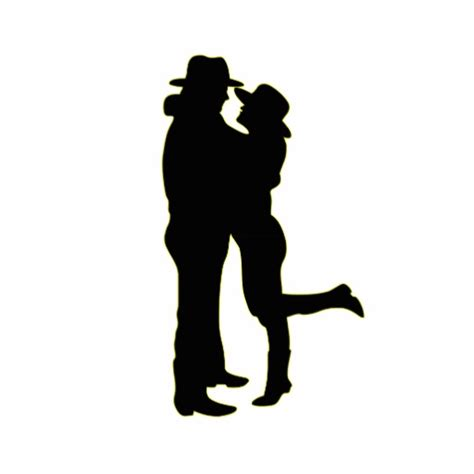 cowboy and cowgirl in love silhouette photo cut out zazzle