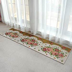 ustide cheap kitchen rug floral design area