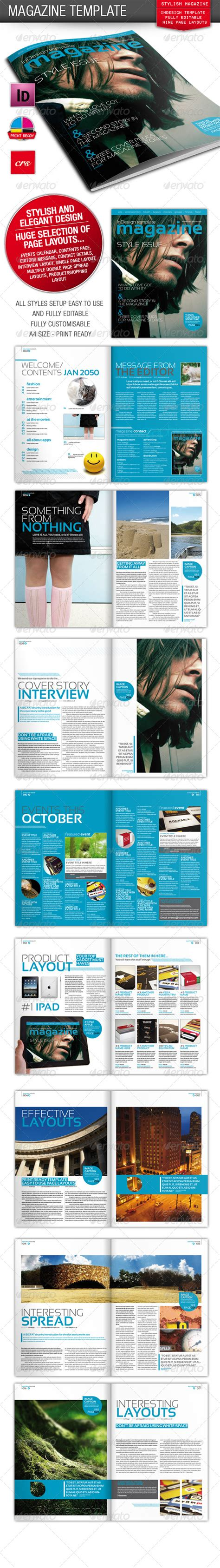 stylish indesign magazine template graphicriver
