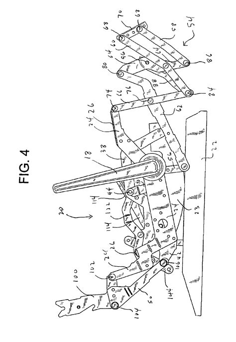 parts for lazy boy recliner patent us6945599 rocker recliner mechanism google patenten