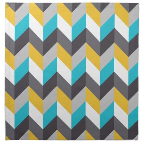 yellow pattern napkins stylish geometric blue yellow gray pattern napkin zazzle