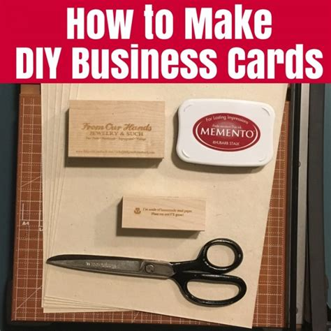 how to make business cards how to make diy business cards the crafty mummy