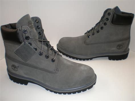 timberland boots grey nib mens timberland 6 quot inch premium boots 71596 grey gray
