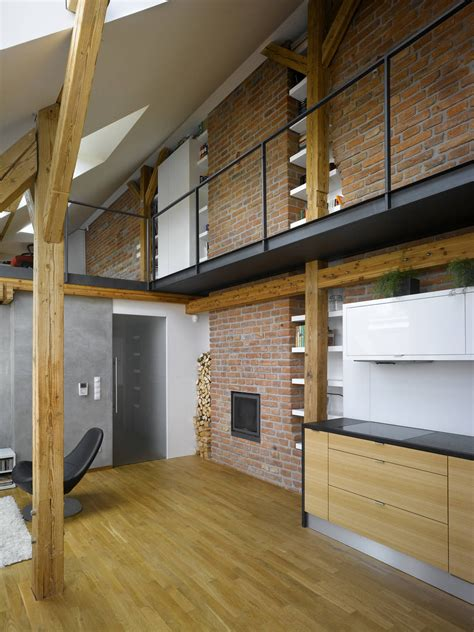 loft ideas small attic loft apartment in prague idesignarch